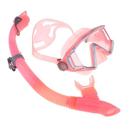 HomeDecTime Buceo Buceo Snorkel Máscara de Buceo Libre Juego de Snorkel para Hombres Y Mujeres - Premium Y Profesional Elegir - Rosa