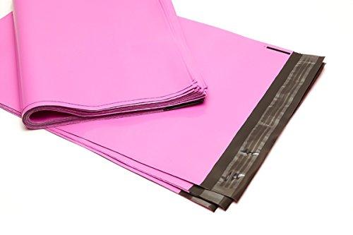 100 Folienmailer® Versandbeutel Rosa: Bunte Versandtüten 300x410mm aus LDPE Coex Folie, selbstklebend und undurchsichtig, Versandtüten aus Plastik perfekt zum Versand von Kleidung und Textilien