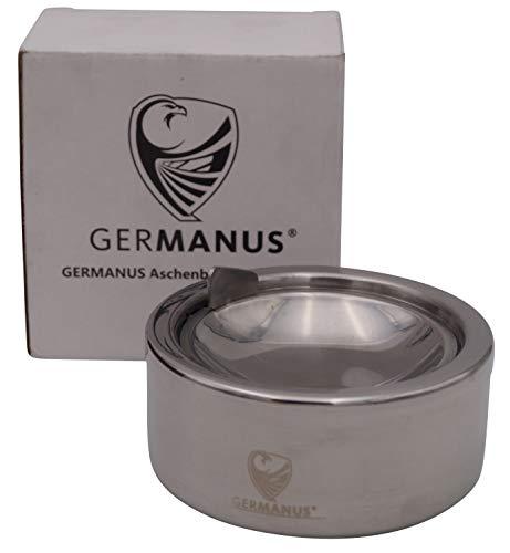 GERMANUS Posacenere in Acciaio Inossidabile, portacenere a Vento