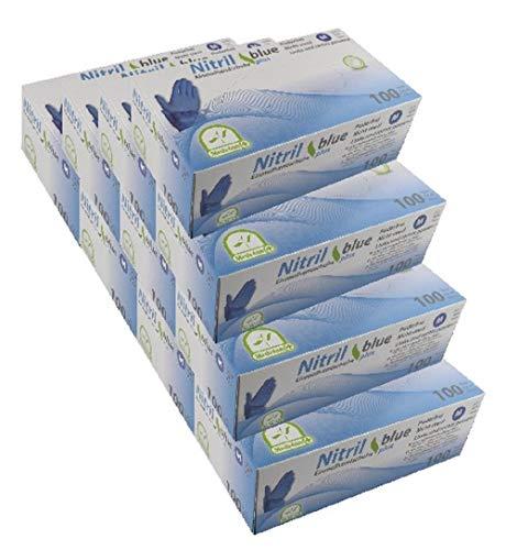 MEDI-INN Nitril blue plus Einweghandschuhe Größe M | 1000 Stück | Nitril Einmalhandschuhe blau in praktischer Spenderbox | Ideal für Hygienebereiche wie Lebensmittelbranche, Kosmetik u.v.m. | latexfrei