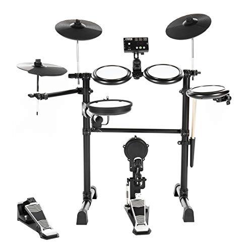 Fame DD-Lite Pro E-Drum Set (8-teiliges Elektronisches Schlagzeugset für Einsteiger - Mesh Heads, echtes Bass Drum-Pedal, 144 Sounds & 12 Kits)