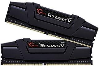 G.Skill Ripjaws V Series F4-3200C16D-16GVR 16 GB - Kit de memoria (8 GB x 2) DDR4 3200 mhz C16 1,35 V, negro clásico