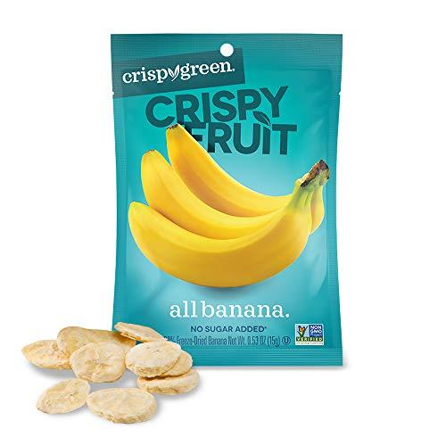 Crispy Green Freeze-Dried Fruit, Single-Serve, Banana, 0.53 Ounce (Pack of 12) | Non-GMO |Gluten Free |No Sugar Added