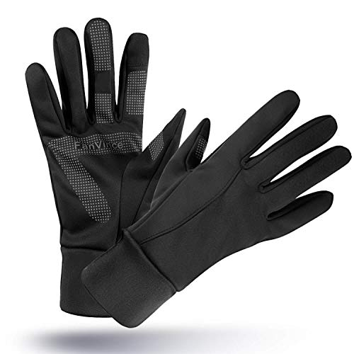 FanVince Bike Gloves Touch Screen Winter Thermal Glove - Windproof Water Resistant for Running Cycling Driving Phone Texting Outdoor Hiking Hand Warmer in Cold Weather for Men and Women (Black,Small)