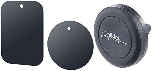 Callstel Kfz Magnethalterung: Kfz-Smartphone-Halterung fürs Lüftungsgitter KMH-50.g, Halte-Magnet (Magnet Handyhalter)