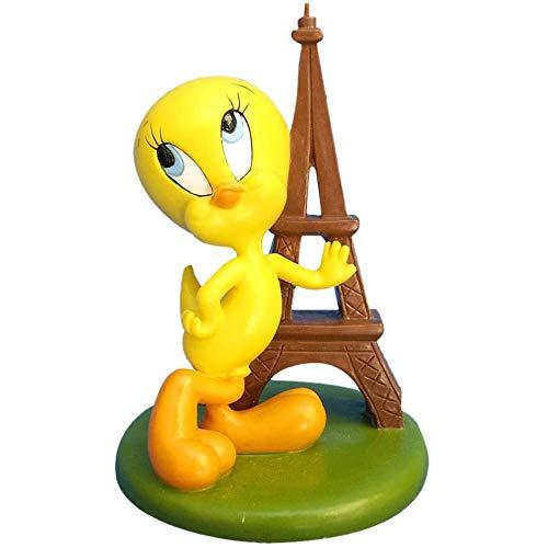 Les Colis Noirs LCN - Figurine en Résine Titi Tour Eiffel - Décoration Maison Bureau - 457