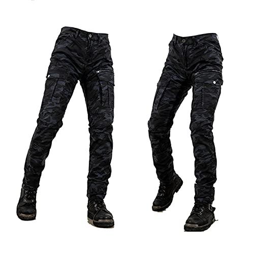 Pantalones De Moto Anti-caída Pantalón De Armadura De Motocicleta para Mujer Se Utiliza para La Protección De Conducción De Motocicletas Al Aire Libre. (Color : Black, Tamaño : 3XL)