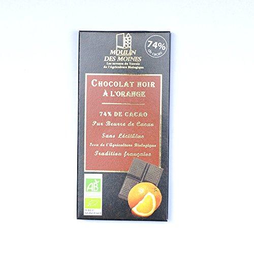 Moulin des Moines - Chocolat noir à l'orange 100G
