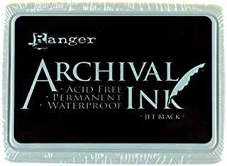 Best Ranger Archival Ink Pad, Jet Black – Permanent, Waterproof, Acid-Free, Non-Toxic – Won't Bleed or Smudge – Provides Vivid and Crisp Stamping Results – Air Dry on Matte and Heat Set on Glossy Surfaces Review