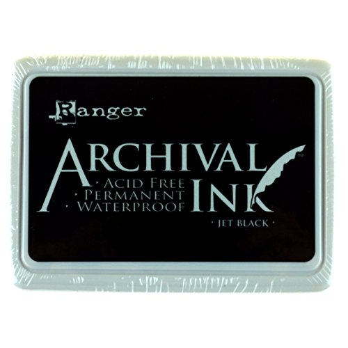 Ranger Archival Ink Pad, Jet Black – Permanent, Waterproof, Acid-Free, Non-Toxic