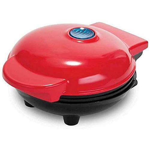 Domóticos Máquinas Mini Mollete, Máquinas para Gofres Personales, Pasteles, Huevos, Hash Browns, Aberdeen Mini Bandeja De La Máquina De Gofres,Rojo
