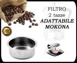 Filtre 2 tasses pour Cafetière Espresso Mokona Bialetti Gaggia G107