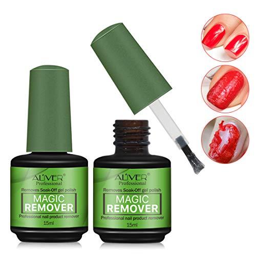 2 Pack Nail Polish Remover,Quick Professional Removes Soak-Off Nail Polish in 3 Minutes for Natural,Gel,Acrylic,Sculptured Nails,Not Hurt Nails