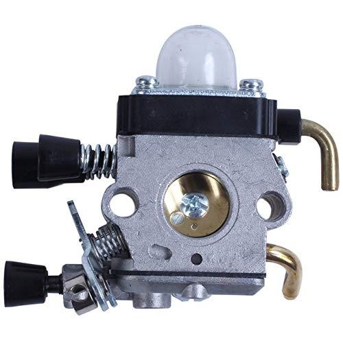 QIUXIANG Carburador de carbohidratos en Forma for STIHL FS38 FS45 FS46 FS55 FS74 FS75 FS76 FS80 FS85 Trimmer (Color : Gray)