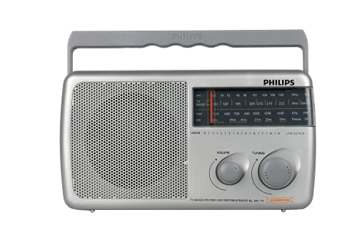 Philips Radio RL384TV/N with MW/FM/SW/TV Bands, 500mW RMS Sound output, Battery: 3xR20 (4.5V DC)External DC SOCKET: 4.5V DC, Without Battery/Adaptor
