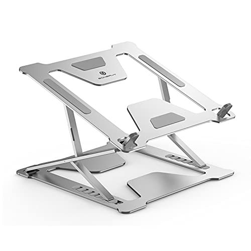 """YXYOL Support Ordinateur Portable,Laptop Stand,Support Pc Portable Ventilé,Laptop Stand RéGlable Ergonomique LéGer,Support Pc Portable Tablette,Support 11-17.3"""" AntidéRapant"""
