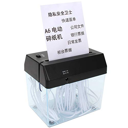Destructora de papel USB eléctrico de doble uso Mini trituradora de papel A6 pequeña trituradora de papel para el hogar Mini escritorio abrecartas cortador de papel
