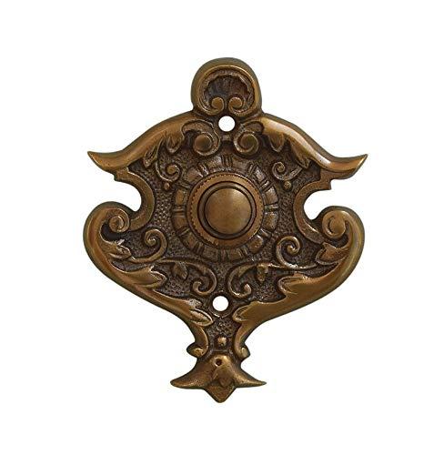 Graf von Gerlitzen Luxusgriffe Antik Messing Tür Klingel 1 Türklingel Klingelschild Klingelplatte Gründerzeit K88A