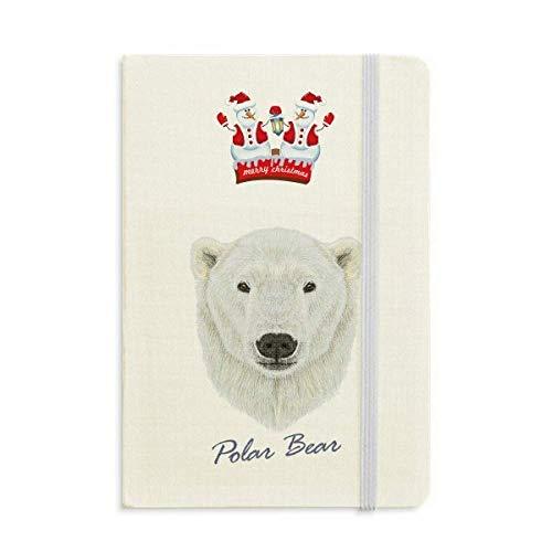 Notizbuch, Motiv: Nordwild, Eisbär, Weihnachten, Schneemann, dick, Hardcover, Weiß