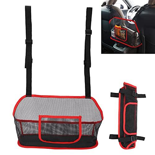 01 Soporte para Bolso, fácil de Instalar Bolsillo de Red para automóvil Barrera Especial Duradera Engrosada y endurecida para Cables de Carga(Red)