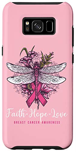 Galaxy S8+ Breast Cancer Awareness Pink Ribbon Butterfly Rose Case