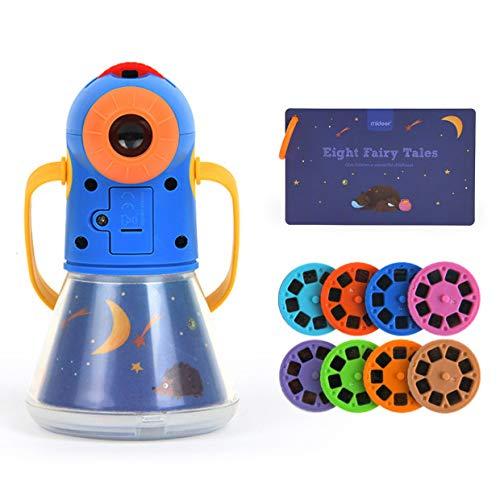 WXLAA Lámpara proyector de estrellas para niños, multifunción, 4 en 1, con temporizador portátil y proyección educativa