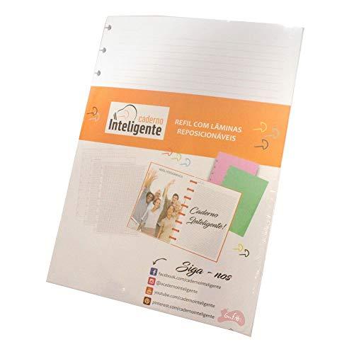Refil de Folhas Para Caderno Inteligente, 2011192, Grande, Pautado, 215x280 mm, 90 Gramas, 50 Folhas