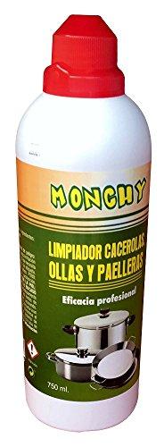 Monchy 008164 Limpiador cacerolas y paelleras, Blanco, 23.5x7.3x7.3 cm