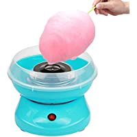 JUEYAN® Máquina para Algodón de Azúcar Eléctrica para Hacer Algodón de Azúcar para el Hogar Mini Máquina de Algodón de Caramelo Retro,Azul