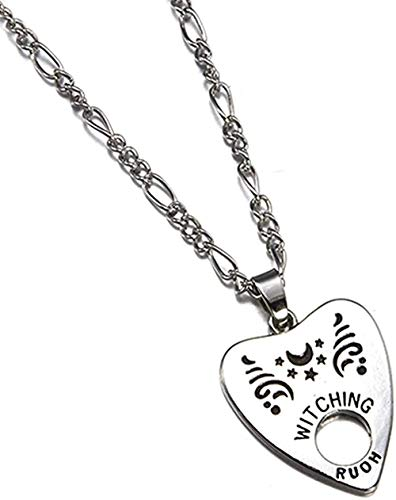 LLJHXZC Collar Colgante Antiguo Collar Forma De Corazón Carta Colgante Collar Estilo Punk Mujer Hombre S Joyería
