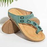 XUNHOU Sandalias ligeras y acogedoras, sandalias planas de verano, sandalias huecas de gran tamaño - verde_3, chanclas para adultos