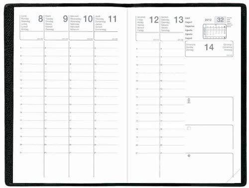 Agenda Economique CALLIOPE - 16 x 24 cm - 12 mois de Août à Juillet 2021/2022, 1 semaine sur 2 pages