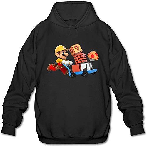GGQ Men's Mario Color Amiibo Super Smash Bros Series Hoodie