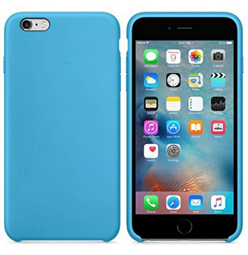 JLFDHR Funda de Silicona Oficial Original para Apple iPhone 7 8 6 6s Plus 5 5s SE Funda para iPhone 6 7 X XS MAX XR Funda de teléfono sin Logo-para iPhone 5 5s SE-Azul
