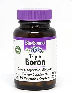 BlueBonnet Triple Boron Vegetarian Capsules, 3 mg, 90 Count