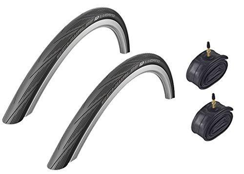 Photo of Schwalbe Lugano BLACK 700 x 23c Kevlar Active Line Road Bike Tyres & Inner Tubes 2016 Model