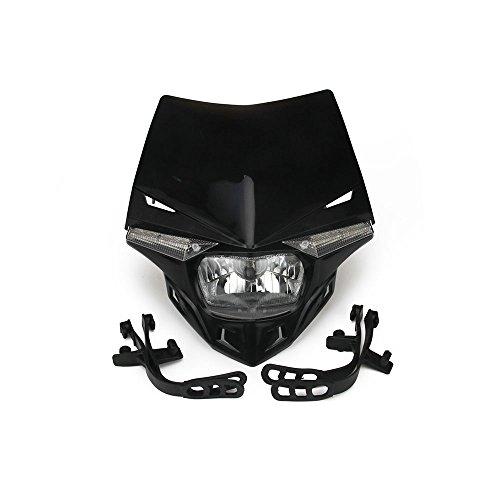 JFG RACING Universal Motorrad Scheinwerfer Kopf Lampe Led-leuchten Für Motocross Dirt Pit Bike - Schwarz