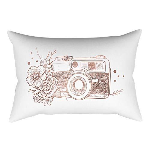 ABsoar Kissenbezug Sofa Taille Throw PillowCover Lang Kissenbezug Home Decoration Pillow Case Kissenbezug Rose Gold Pink 30 * 50cm (Kissen ist Nicht im Preis inbegriffen)