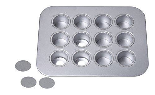Chicago Metallic 12-Cup Mini-Cheesecake Pan, 14-Inch-by-10.75-Inch, silver - 77122