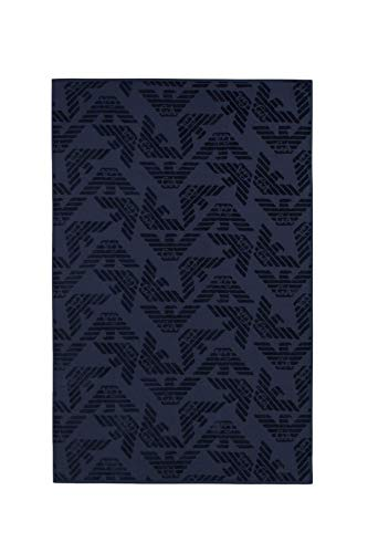 Emporio Armani Swimwear Herren Towel Beachwear Allover Eagle Sponge Bademantel, Blau...