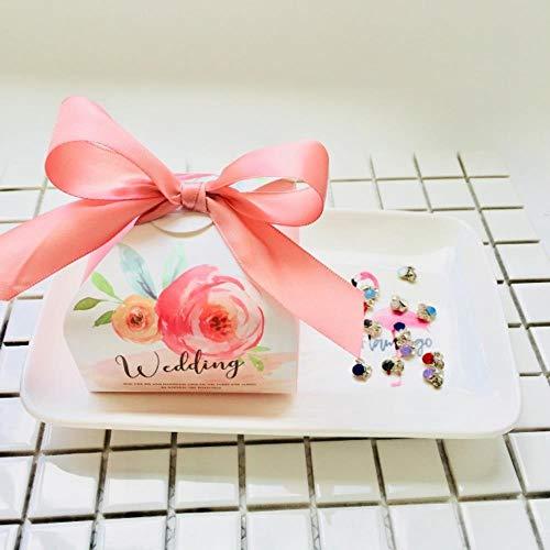 Xinger bedankje voor papier Geschenkdozen Chocoladetas Romantische snoepdoos Babyshower Verjaardagscadeautasjes Bruid Bruidegom Feestartikelen, Mintgroen, 100 STUKS