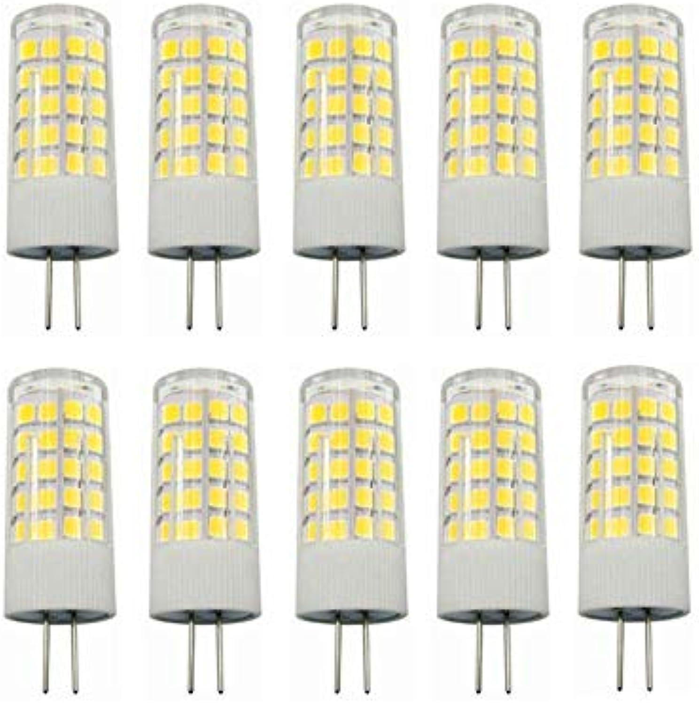 BMY Startseite Led-lampen, 10 stücke G4 Sockel LED Glühbirne Lampe 5 Watt AC DC 12 V Nicht dimmbar Entspricht 40W T3 Halogen Track Glühlampe Ersatz 360 \u0026 deg; Strahlwinkelleuchten (Farbe  warm