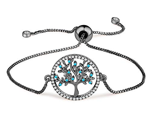 Buyless Fashion Girls Tree of Life Bracelet SS with Adjustable Closure