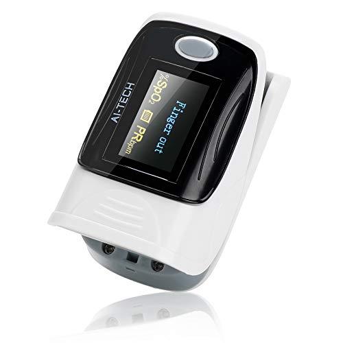 Saturimetro da dito sensore di saturazione di ossigeno e polso cardiofrequenzimetro di colori diversi con OLED display (C)
