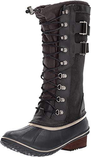 Sorel Frauen-Eroberung Carly Ii Shell Boot, 40 EUR, Black/Silver Sage