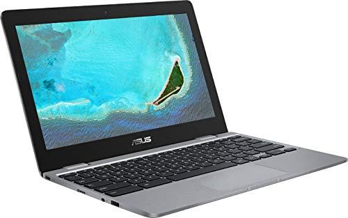 2021 Newest Asus Chromebook 11.6 Inch Laptop, Intel Celeron N3350 up to 2.4 GHz, 4GB RAM, 16GB eMMC, WiFi, Bluetooth, Webcam, Chrome OS + NexiGo 32GB MicroSD Card Bundle