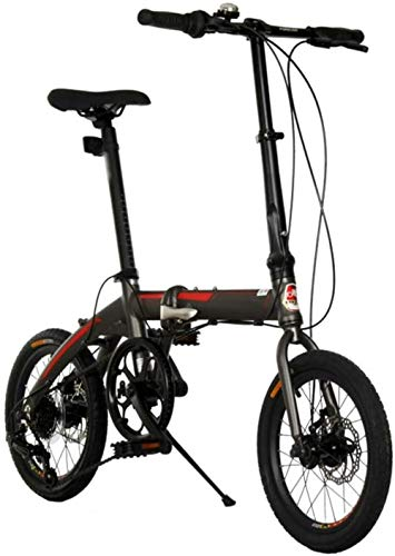 16 en 7 velocidades, bicicleta plegable para ciudad, para adultos y adolescentes, ultraligera, portátil, para montar en bicicleta, para viajes, para trabajar