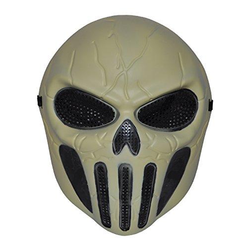 Komonee Leichtes Skelett Full Face Hockey Halloween Maske (HM29)