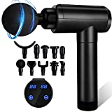 Massage Gun, Muscle Therapy Gun, Hand Held Body Deep Muscle Massager with 30 Adjustable Speeds, 10 Types of Massage Heads, Quiet and Comfortable Muscle Massage Gun