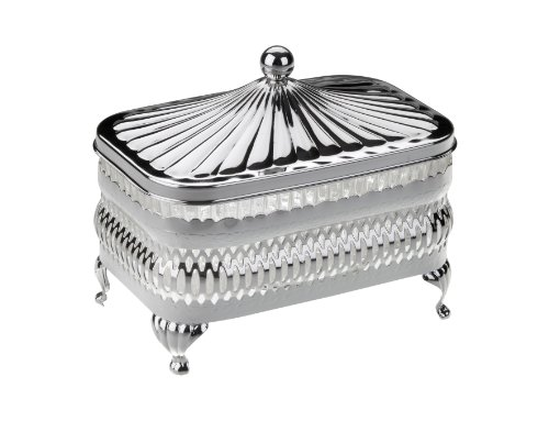 Butter Dish in a Silver Plated frame with tarnish resistant finish that never needs Silver polishing by Queen Anne